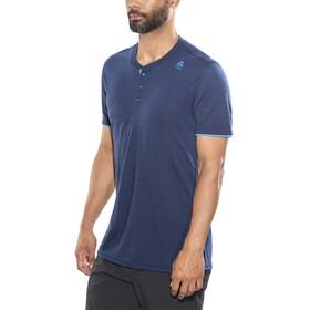Aclima LightWool Henley Shirt Men insignia blue/blithe